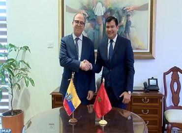 Benchamach se entrevista en Quito con el presidente de la Asamblea Nacional ecuatoriana