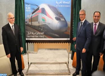 Lancement d'un nouveau timbre-poste dédié au TGV