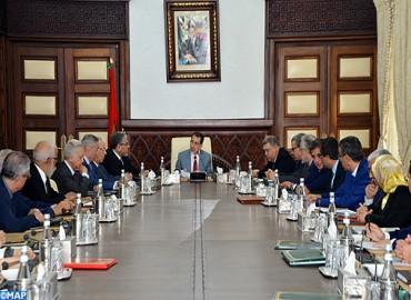 Réunion des travaux  du Conseil de gouvernement  du jeudi  13 septembre 2018