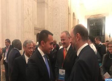 M. Jazouli participe à Rome  à la conférence ministérielle des pays voisins de la Libye