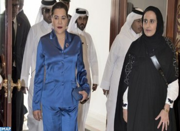Arrivée de SAR la Princesse Lalla Hasnaa à Doha pour représenter SM le Roi Mohammed VI à la cérémonie d'inauguration officielle de la Bibliothèque nationale du Qatar