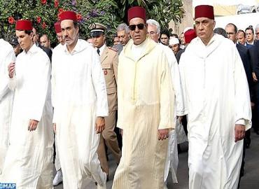 Funérailles à Casablanca de Mohammed Karim Lamrani en présence de SAR le Prince Moulay Rachid