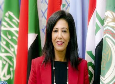 La Marocaine Souad Saihi directrice de la direction de la culture au département des affaires sociales du secrétariat général de la Ligue des Etats arabes.