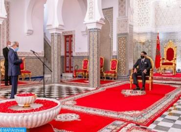 SM el Rey recibe al Wali de Bank Al-Maghrib