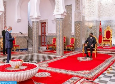 SM le Roi reçoit Wali Bank Al-Maghrib