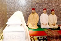 HM King Mohammed VI, Commander of the Faithful, chairs at the Mohammed V Mausoleum in Rabat a religious evening in commemoration of the 20th anniversary of the passing of late King Hassan II