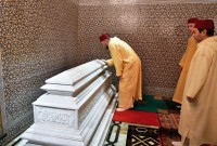 HM King Mohammed VI, Commander of the Faithful, chairs at the Mohammed V Mausoleum in Rabat a religious evening in commemoration of the 19th anniversary of the passing of late King Hassan II