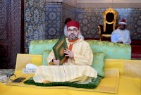 HM King Mohammed VI, Commander of the Faithful, chairs at the Rabat Royal Palace the eighth religious lecture of the holy month of Ramadan