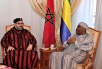 HM King Mohammed VI visits Gabonese President Ali Bongo Ondimba at Rabat's Mohammed V military hospital