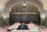 HM King Mohammed VI, Commander of the Faithful, chairs at Casablanca royal palace the third religious lecture of the holy month of Ramadan