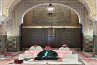 SM el Rey Mohammed VI, Amir Al Muminin, preside en el Palacio Real en Casablanca la tercera charla religiosa del mes del Ramadán