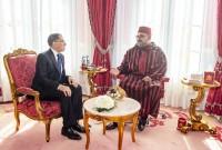 SM el Rey Mohammed VI, que Dios le asista, recibe en el Palacio Real de Rabat, al jefe de Gobierno, Saâd Dine El Otmani