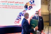 SM el Rey Mohammed VI preside en el Palacio Real de Fez la ceremonia de presentación del informe general de la Comisión Especial sobre el Modelo de Desarrollo (CSMD)