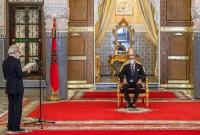 SM el Rey Mohammed VI recibe, en el Palacio Real de Fez, a Abdellatif Jouahri, Wali de Bank Al-Maghrib