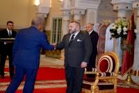 SM le Roi Mohammed VI reçoit, au Palais Royal à Casablanca, M. Dwight L. Bush, ambassadeur des Etats-Unis d'Amérique, venu prendre congé du Souverain au terme de sa mission dans le Royaume