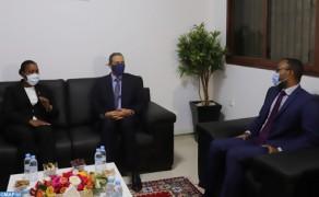 En Laayún, la jefa de la diplomacia santotomense se felicita de las relaciones multidimensionales co