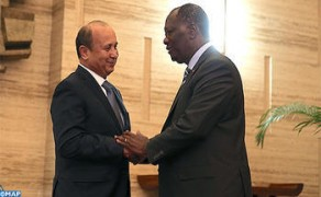 Ivorian President Receives Chairman of Maroc Telecom Group