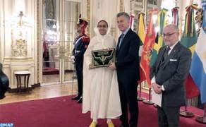 El embajador de Marruecos en Argentina entrega sus cartas credenciales al presidente Mauricio Macri