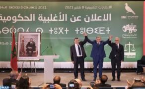 La mayoría gubernamental compuesta por la RNI, el PAM y el Istiqlal (Akhannouch)