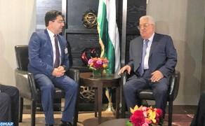 El presidente palestino saluda las posiciones constantes de Su Majestad el Rey a favor de la causa palestina