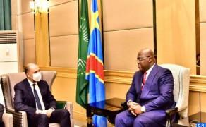Jazouli entrega en Kinshasa un mensaje de SM el Rey al presidente Tshisekedi