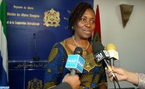 Sierra Leona reitera su apoyo permanente a la integridad territorial del Reino de Marruecos y saluda la Iniciativa de Autonomía marroquí