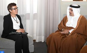 Bahraini Crown Prince Receives Minister of Handicraft and Social Economy