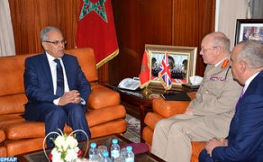 Minister Delegate for National Defense Holds Talks with British Defense Senior Adviser in Charge of MENA Region