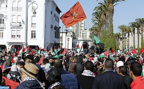 Thousands of Moroccans Take Part in National March against US President's Decision to Recognize Al-Quds as Israel's Capital