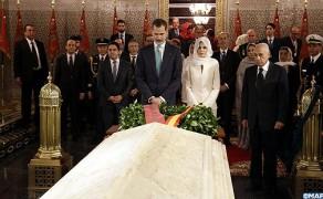 King Felipe VI and Queen Letizia Visit Mohammed V Mausoleum